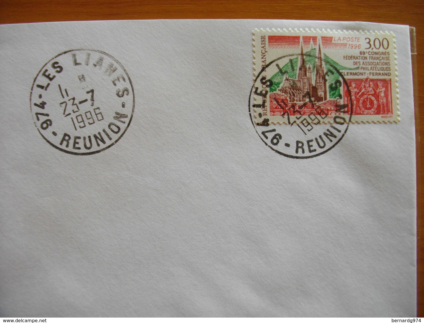 Réunion : Pli De 1996 Avec Cachets Du Petit Bureau Des Lianes - Réunion (1852-1975)