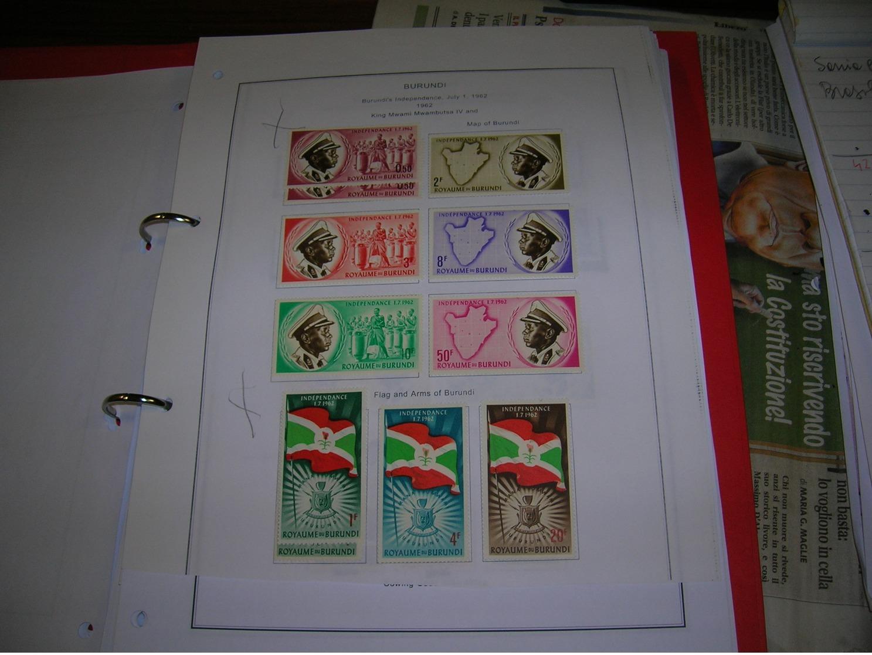 Burundi  PO. 1962 Indipendenza  Scott.26+See Scan On Foglio Album; - Burundi