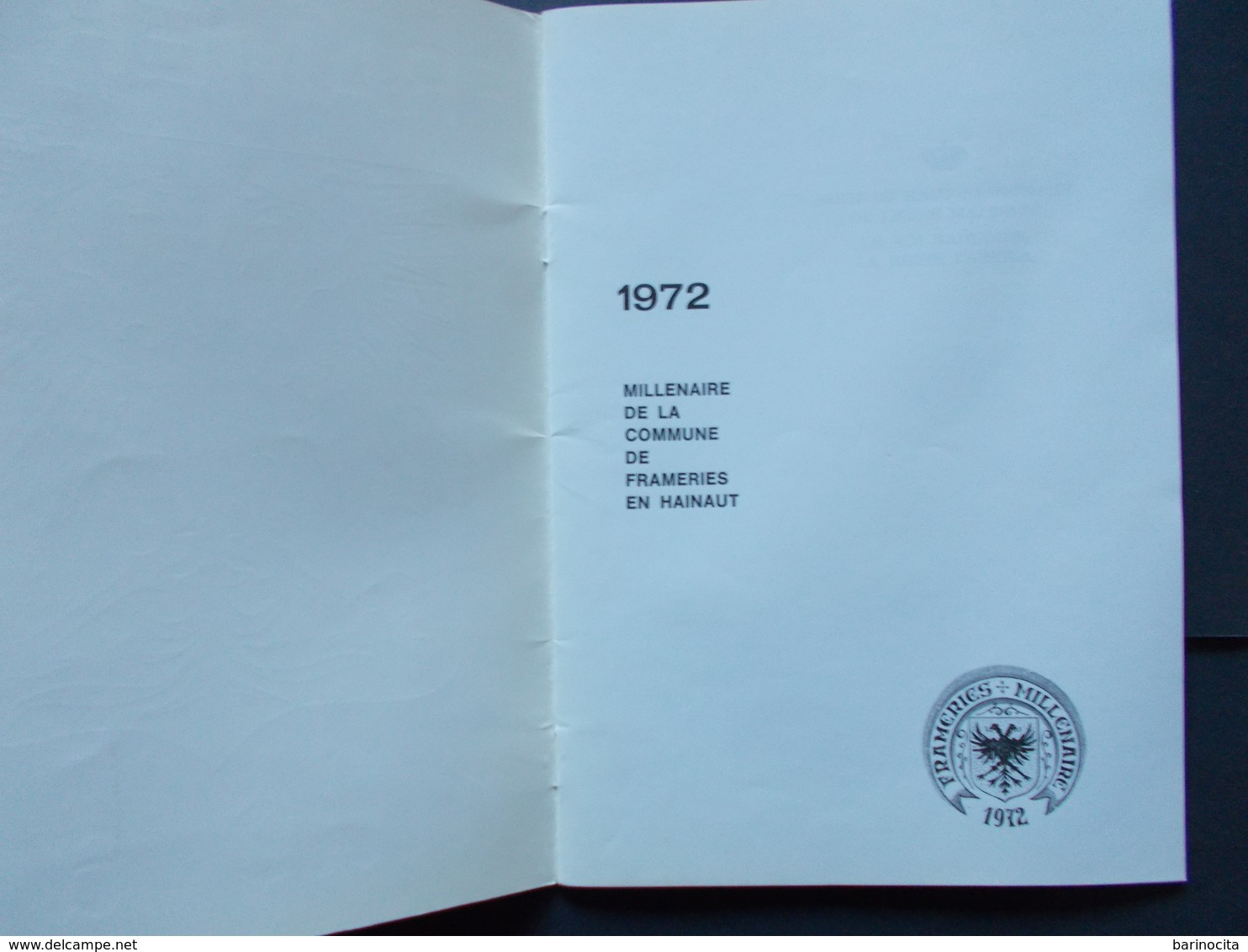 FRAMERIES - MILLE ANS - Frameries 972 /1972 - Cultuur