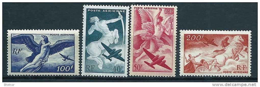 """FR Aerien YT 16 à 19 (PA) """" Série Mythologique """" 1946-47 Neuf** - 1927-1959 Mint/hinged"""