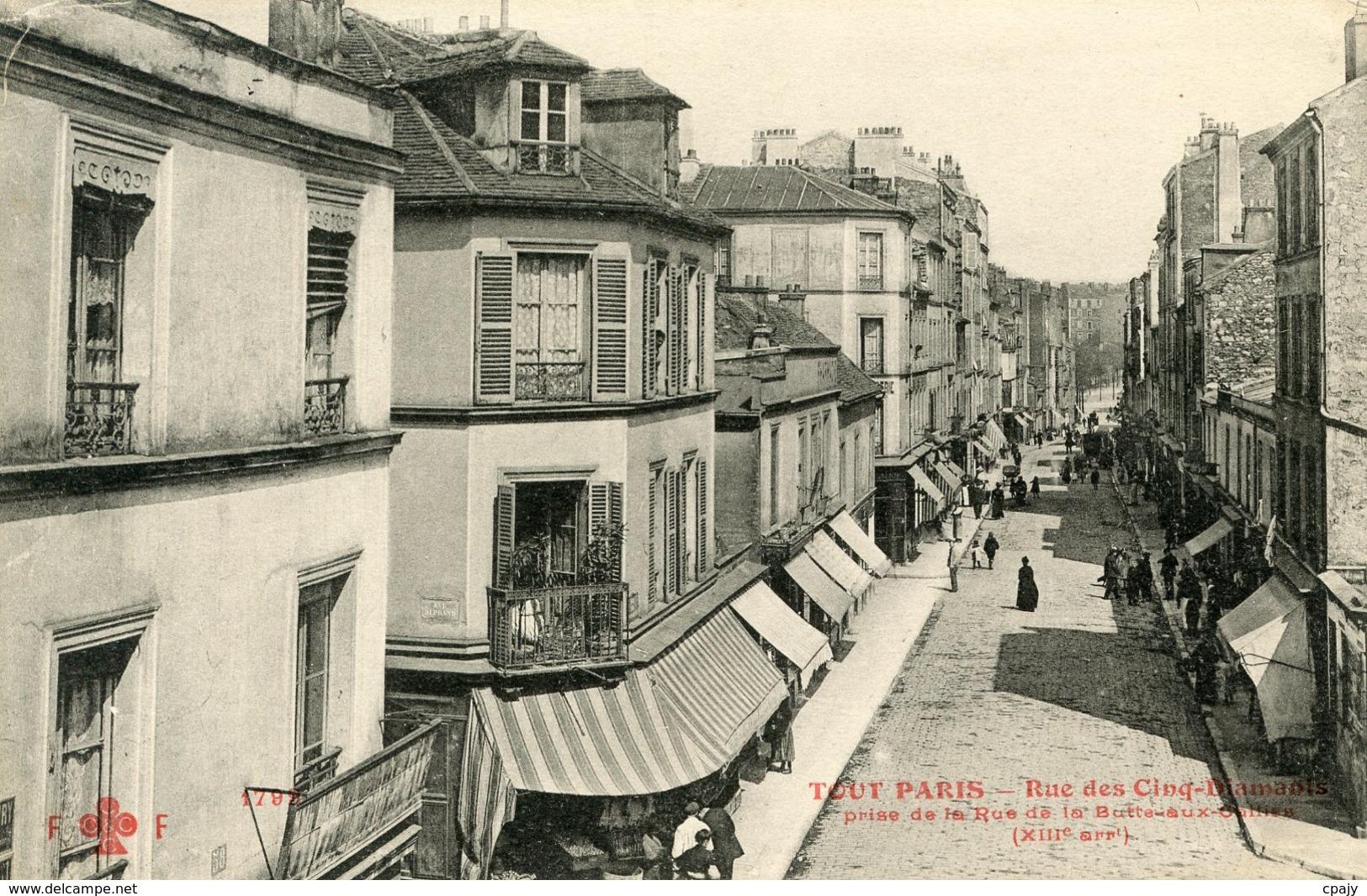 RUE DES CINQ DIAMANTS, PRISE DE LA RUE DE LA BUTTE AUX CAILLES  0059 - Arrondissement: 13