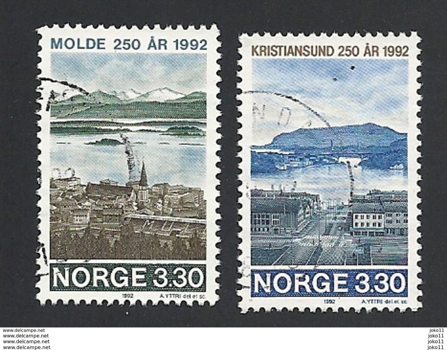 Norwegen, 1992, Mi.-Nr. 1098-1099, Gestempelt - Norwegen