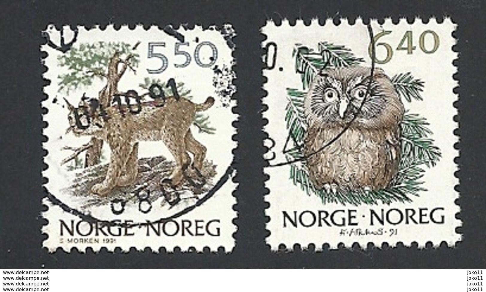 Norwegen, 1991, Mi.-Nr. 1059-1060, Gestempelt - Norvegia