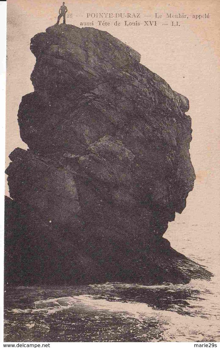 29 CLEDEN-CAP-SIZUN Le Menhir Appelé Aussi Tête De Louis XVI - Animée - Cléden-Cap-Sizun
