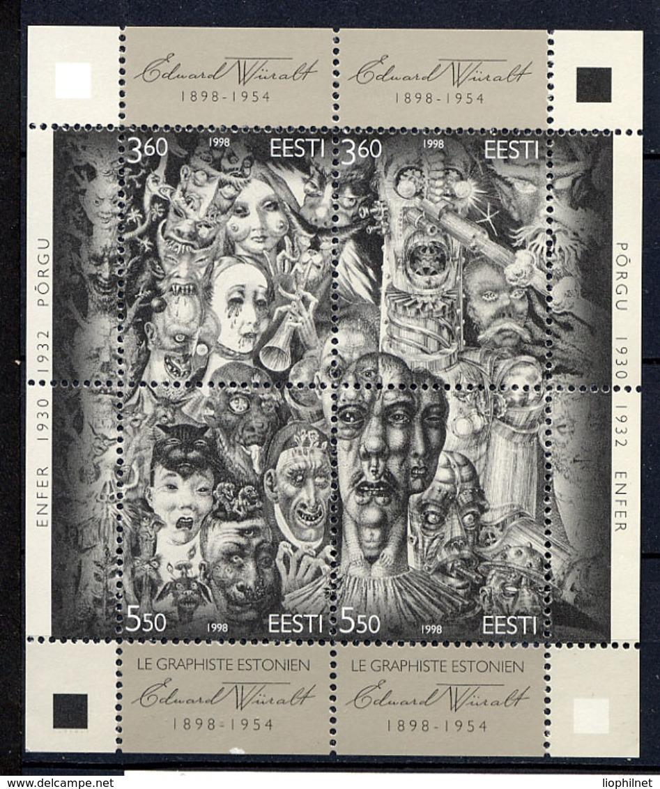 ESTONIE EESTI 1998, Graphiste E. Würalt, 1 Feuillet 4 Valeurs, Neuf / Mint. R105 - Estonia