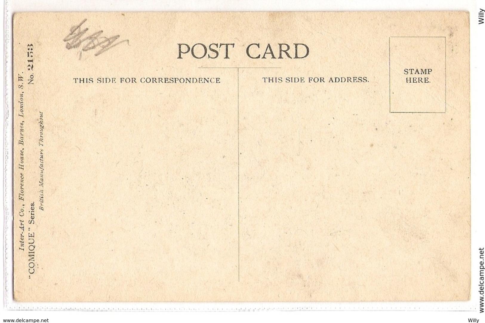 CPH 635 , OLD POSTCARD , HUMOR FANTASY , Signed - Humor