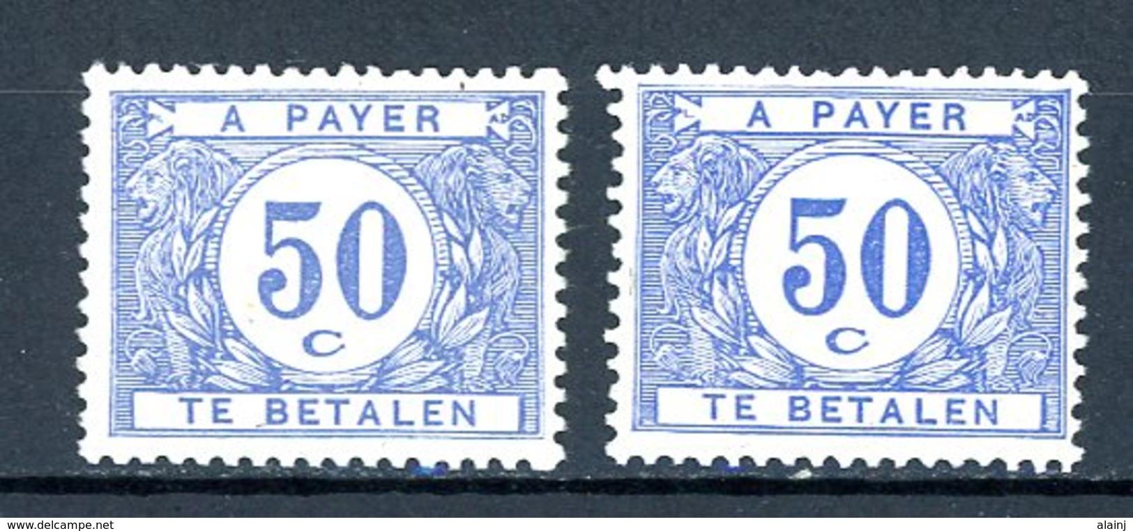 BE   TX 38 - 38a    XX    ---    Les Deux Nuances Bien Marquées... - Taxes