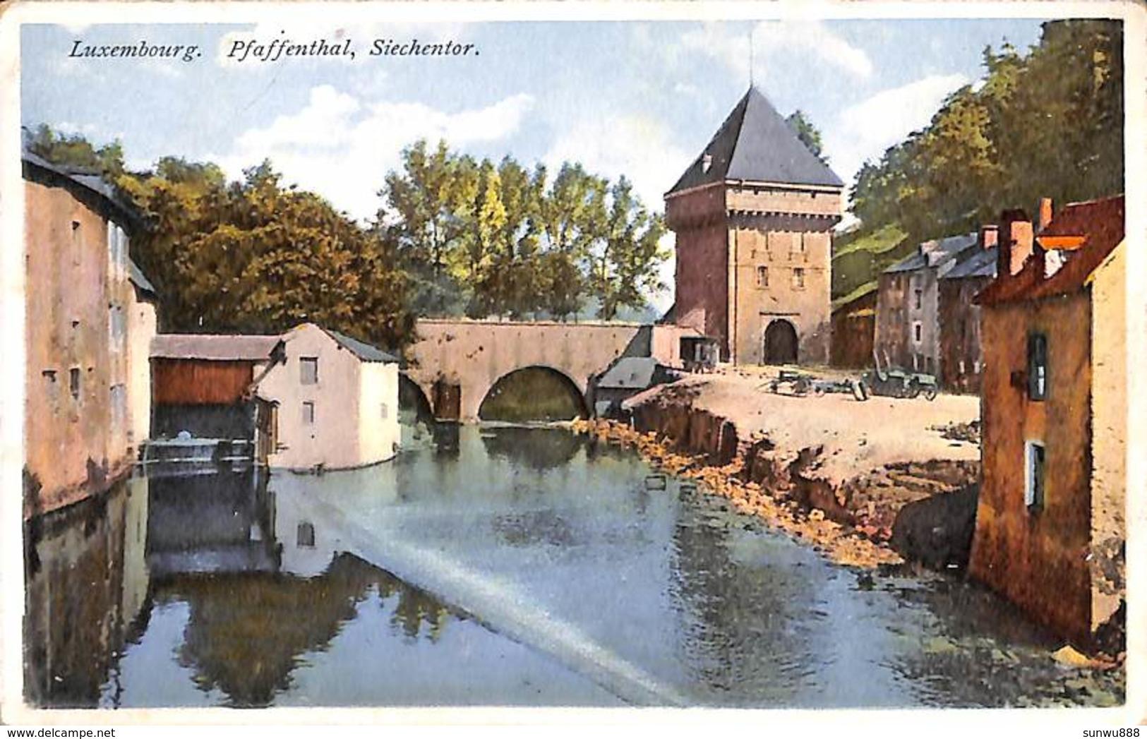 Luxemburg - Pfaffenthal, Siechentor (colorisée) - Luxemburg - Stad