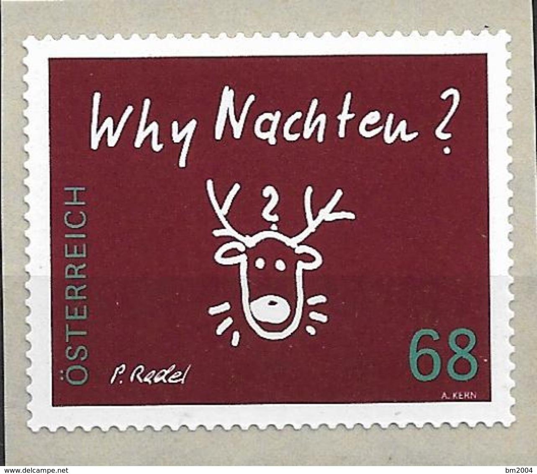 2015 Austria Mi. 3242**MNH  Mit Nr. 15  Rentierkopf, Inschrift Why Nachten - 2011-... Nuevos & Fijasellos