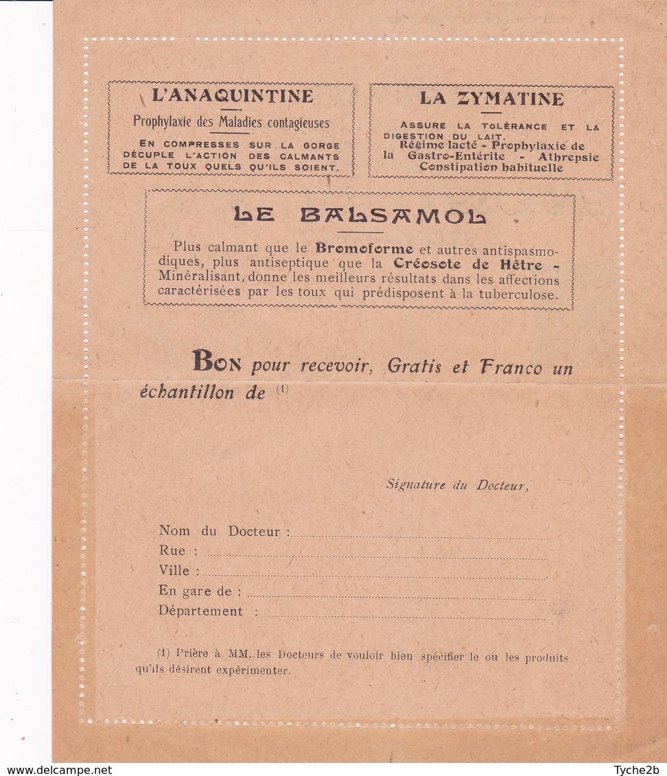 Carte Lettre Semeuse Camée 25 C Lilas Bleu J1a Neuve Repiquage Lescene - Postal Stamped Stationery