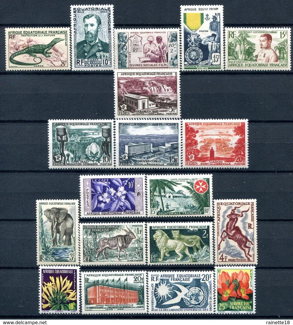 A.E.F   ( Afrique Equatoriale Française )   227/245 ** - A.E.F. (1936-1958)