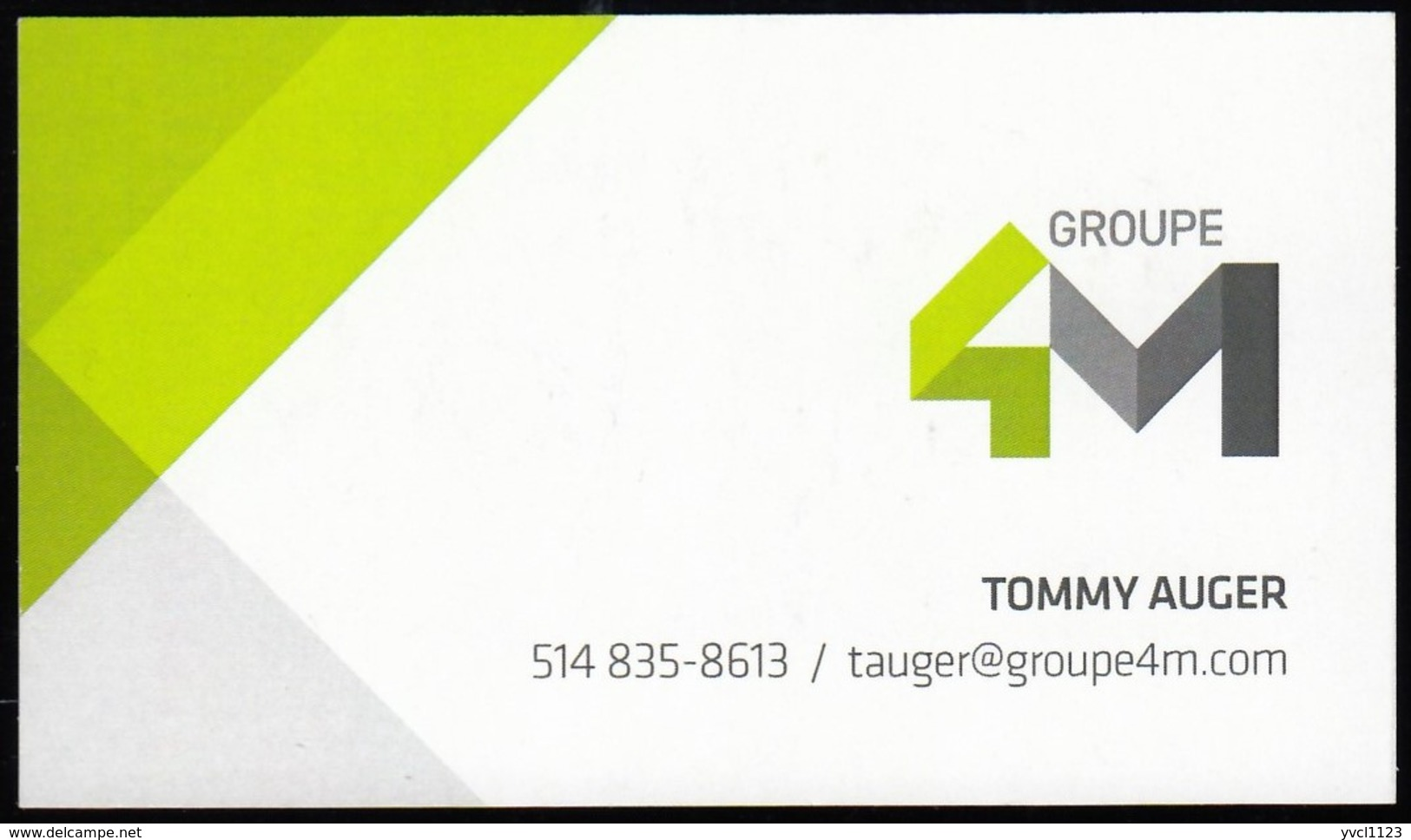 Groupe 4M, Mascouche QC (VC690) - Visiting Cards
