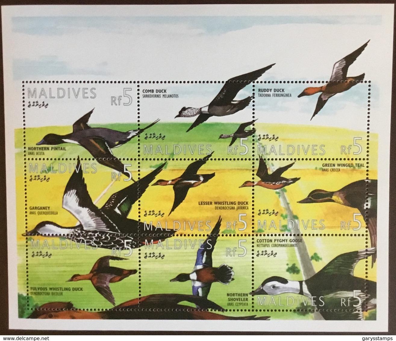 Maldives 1995 Birds Ducks Sheetlet MNH - Vögel