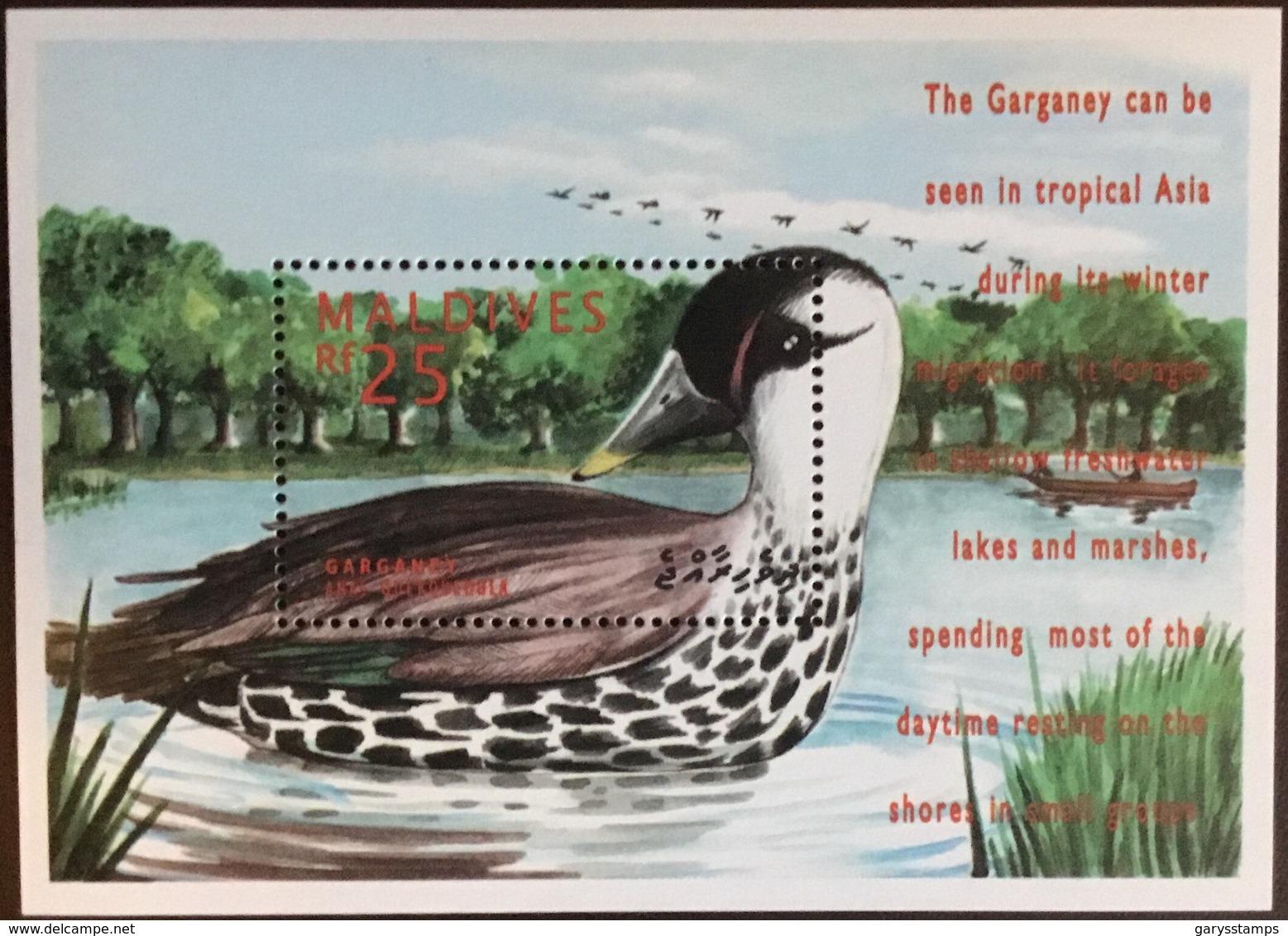Maldives 1995 Birds Ducks Minisheet MNH - Vögel