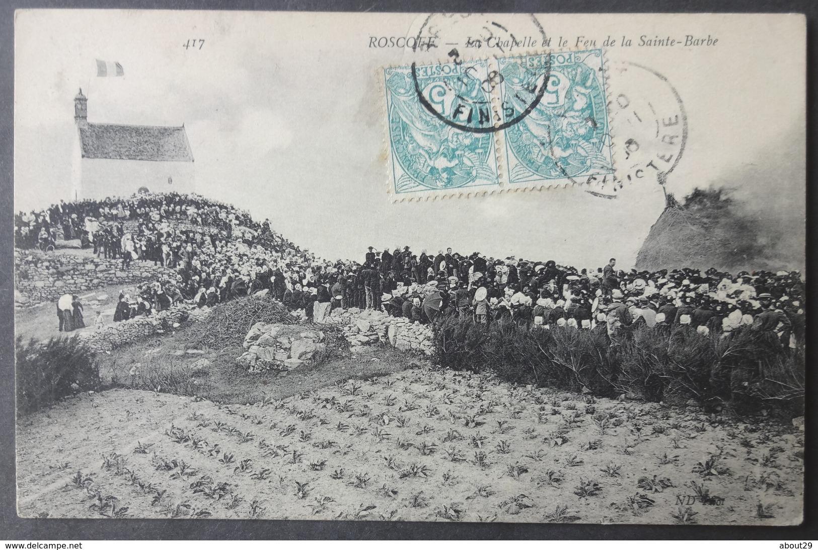CPA 29 ROSCOFF - La Chapelle Et Le Feu De La Sainte Barbe - ND 417 - Réf. E 187 - Roscoff