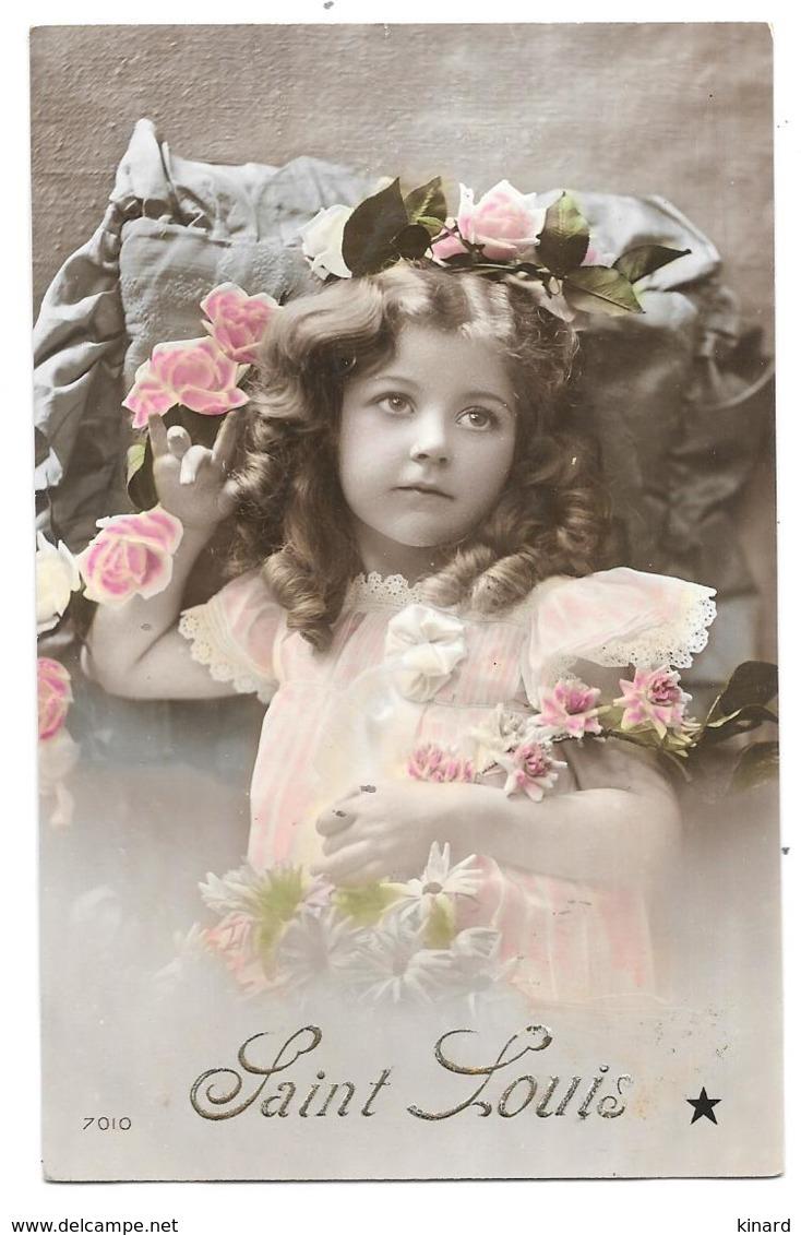 CPA.  ENFANT....ARTISTIQUE...  SAINT LOUIS....ELEGANCE...ANGLAISE... FLEUR.... TBE... SCAN - Portraits