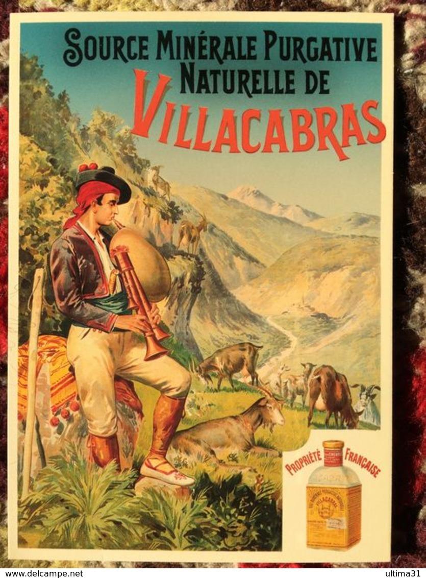 CPM PUB PUBLICITE ANCIENNES EAU MINERALE PURGATIVE NATURELLE VILLACABRAS BERGER COLLEC AUTHENTIQUES IMAGINAIRES 2003 - Pubblicitari