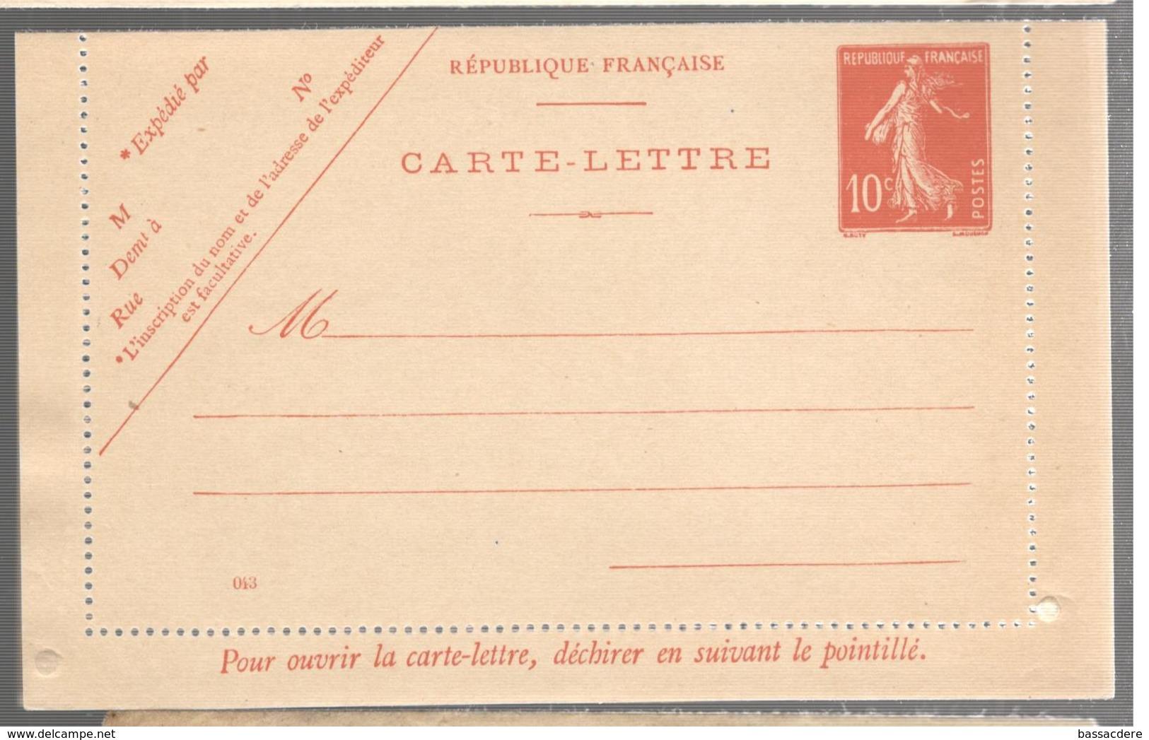 25676 - Semeuse - Postal Stamped Stationery