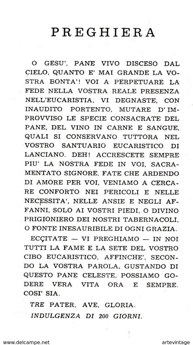 Santino - Il Miracolo Eucaristico - Lanciano - Santini