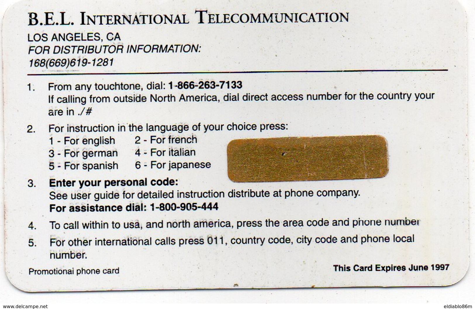 UNITED STATES - B.E.L. - THEMATIC CARTOON MOVIE - WALT DISNEY - ONE HUNDRED AND ONE DALMATIANS LA CARICA DEI 101 - MINT - Andere