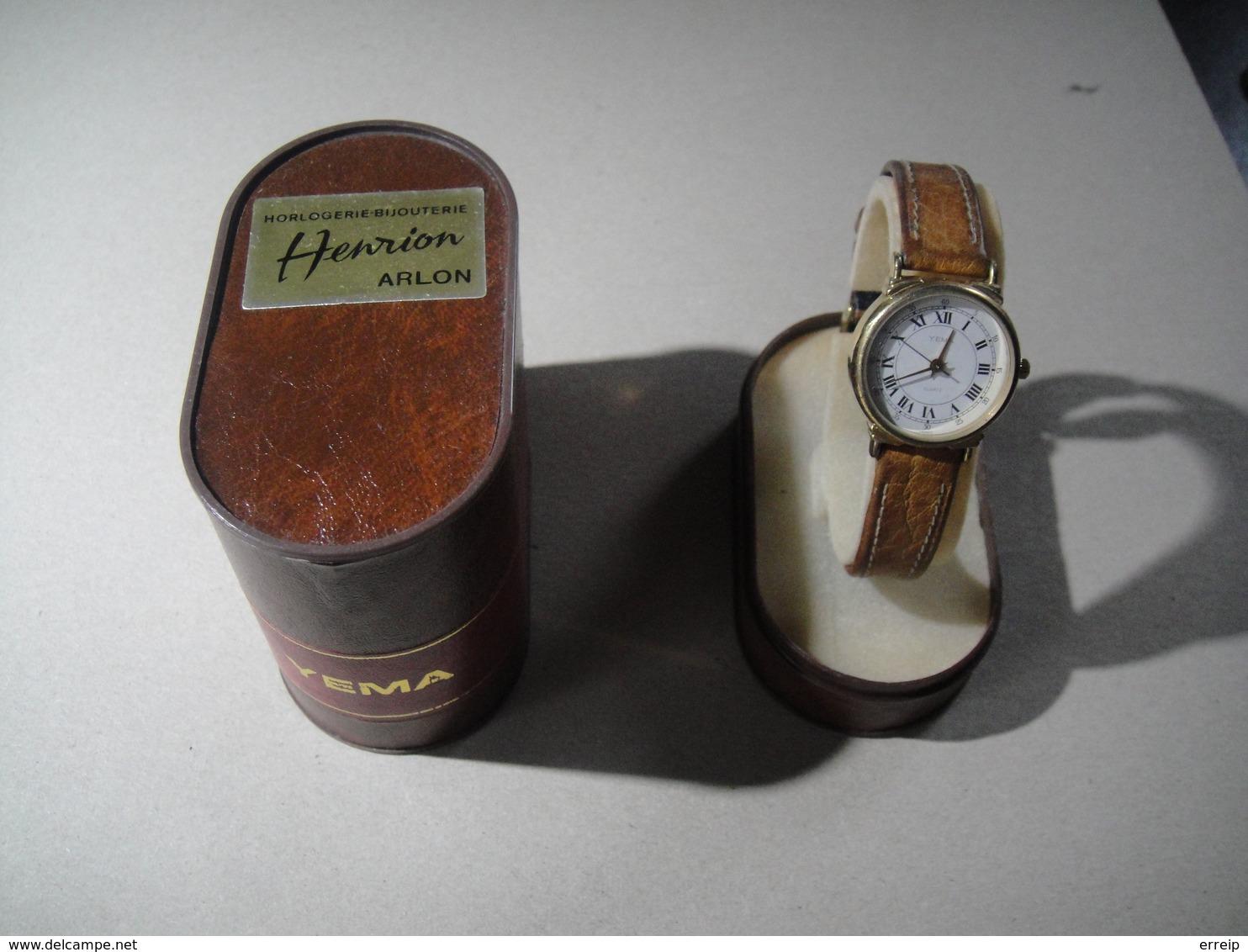 Montre YEMA Fonctionne Très Bien Avec Boite Et Certificat De Garantie Vendue à Arlon Chez Henrion 1990 - Horloge: Juwelen