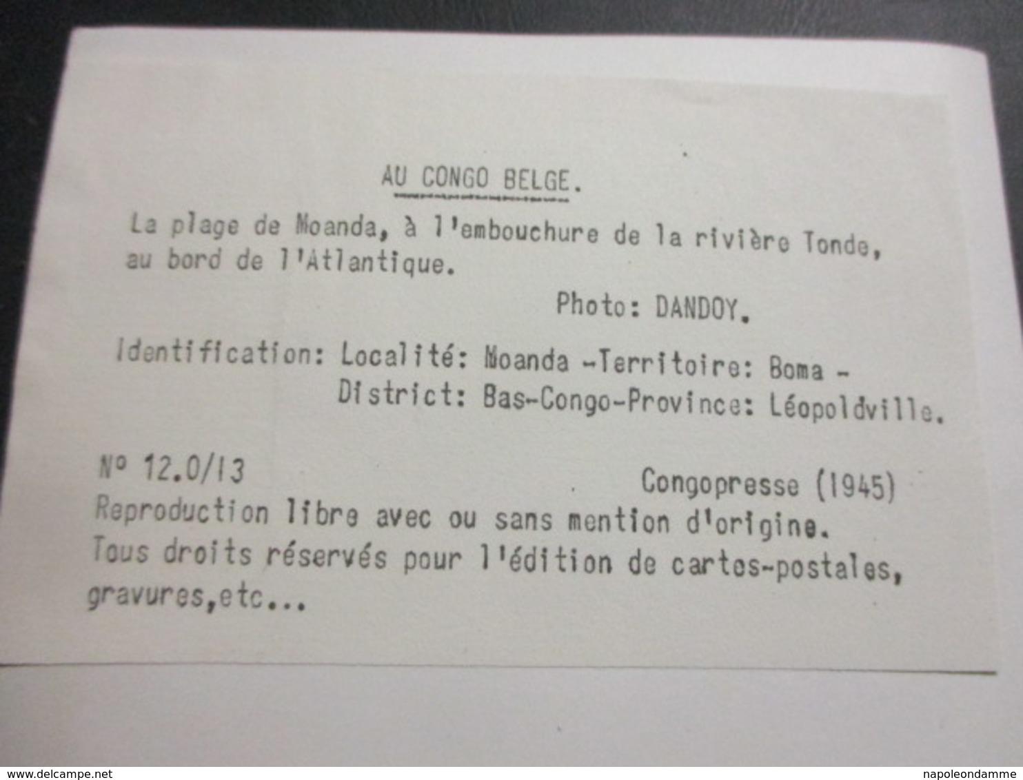Foto Au Congo Belge, 180cm X 12cm - Congo Belge - Autres