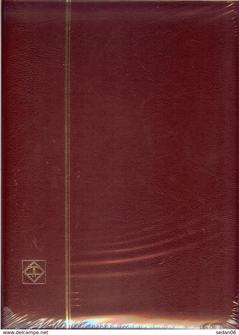 LEUCHTTURM - CLASSEUR LP 4/30 (60 Pages Fd Blanc), Couverture Bordeaux - Classificatori