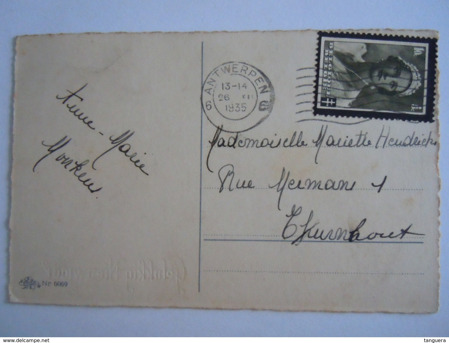 Oiseaux Humanisés Vendeuse De Pommes Geklede Vogels Appel Verkoopster Edit Erika 6069 Gelopen Circulée 1935 - Animali Abbigliati