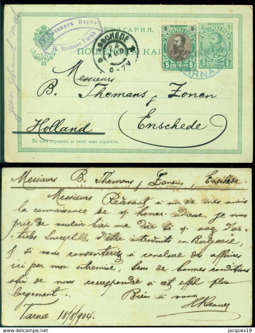 Bulgarije 1904 Postkaart Naar Enschedé - Postales