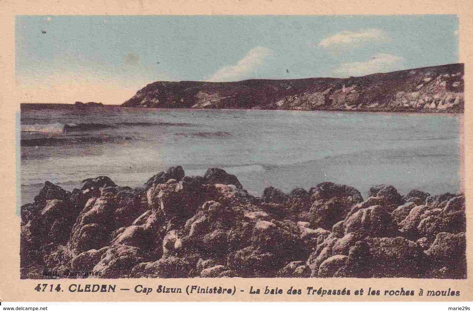 29 CLEDEN-CAP-SIZUN La Baie Des Trépassés Et Les Roches à Moules - Colorisée - Cléden-Cap-Sizun
