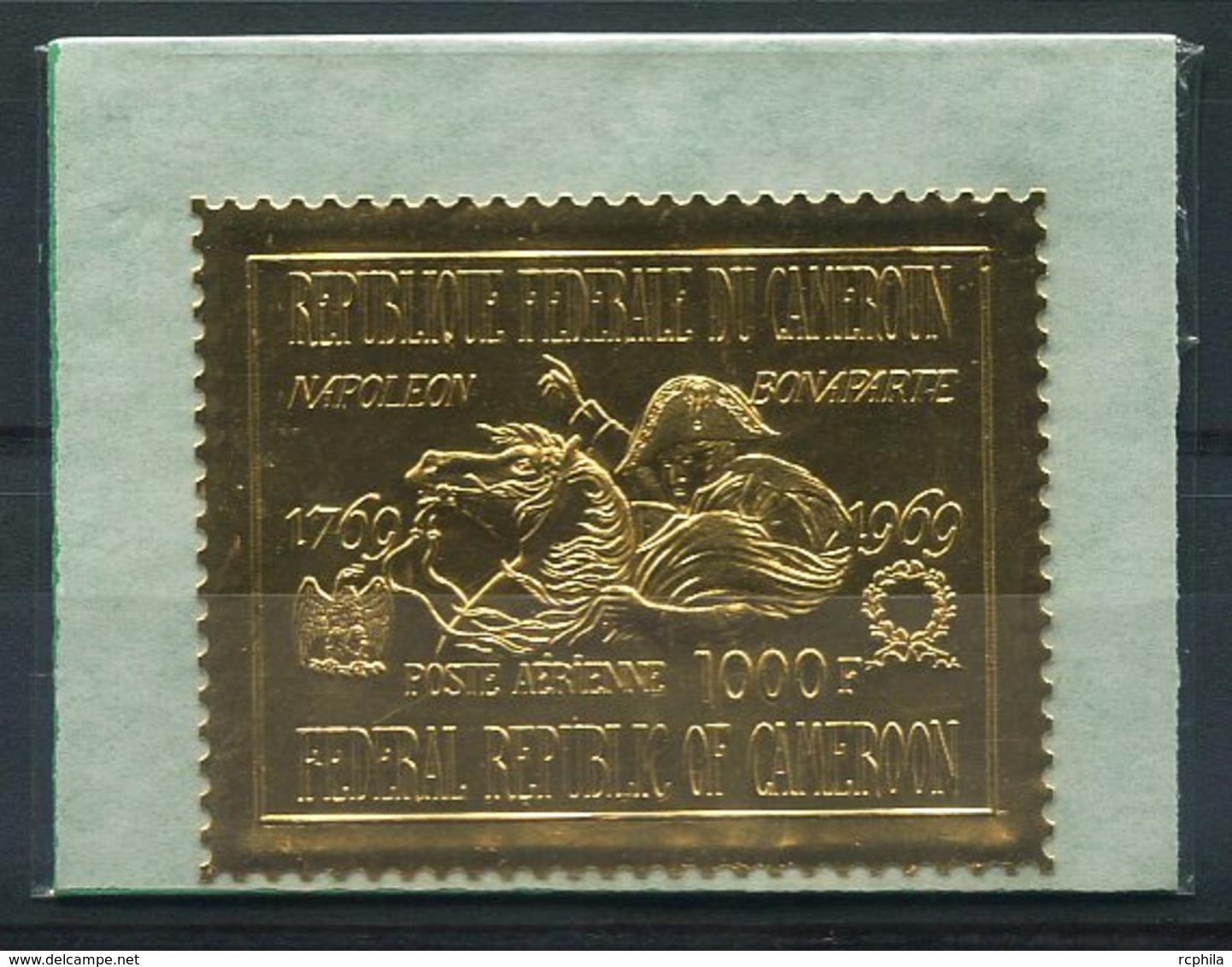 RC 14885 CAMEROUN PA N° 137 NAPOLEON TIMBRE EN OR - GOLD STAMP DANS SA POCHETTE D'ORIGINE NEUF ** MNH TB - Kamerun (1960-...)