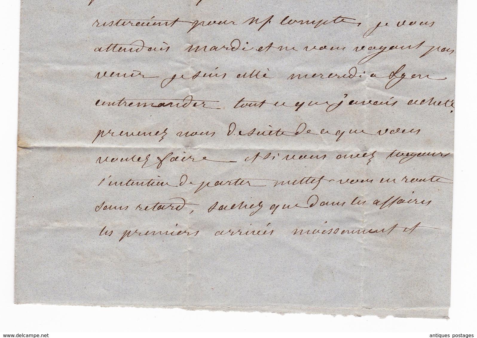 Lettre 1855 Vienne Viriville Isère Napoléon III 20 Centimes Avec Correspondance - 1853-1860 Napoleon III