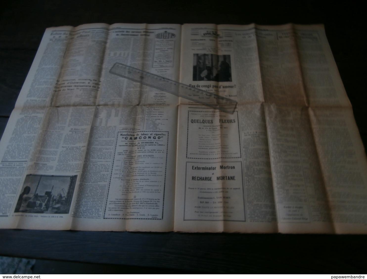 L'Avenir Colonial Belge 35 Du 4 Février 1954 : Congo, Molotov, AMI, Niari, - Kranten