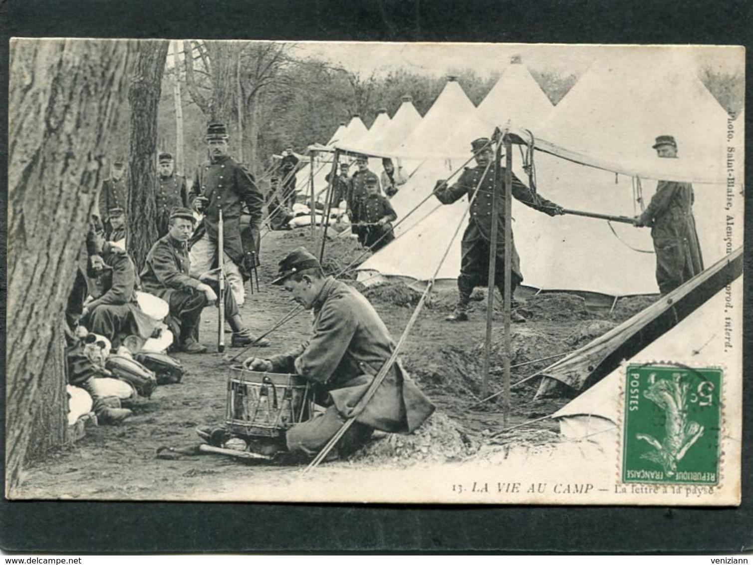 CP - LA VIE AU CAMP - La Lettre à La Payse, Très Animé - Caserme