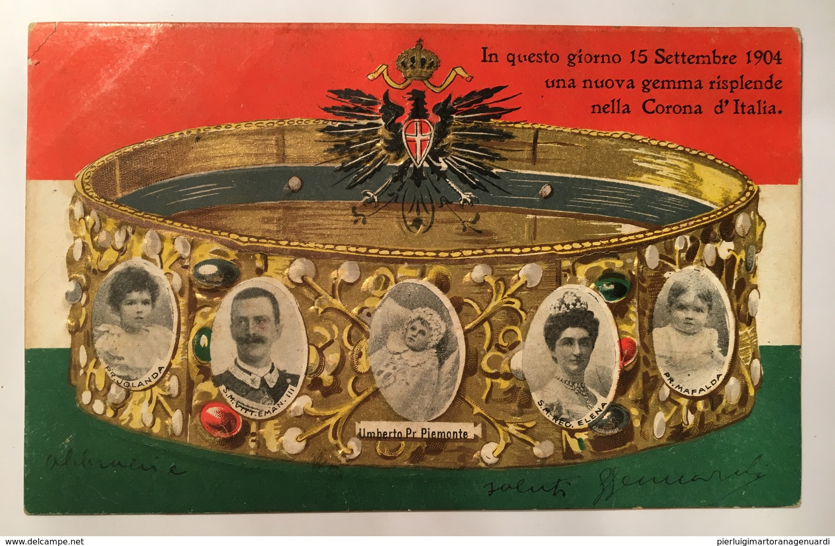 30185 In Questo Giorno 15 Settembre 1904 Una Nuova Gemma Splende Nella Corona D ' Italia - RILIEVO ORO - Königshäuser