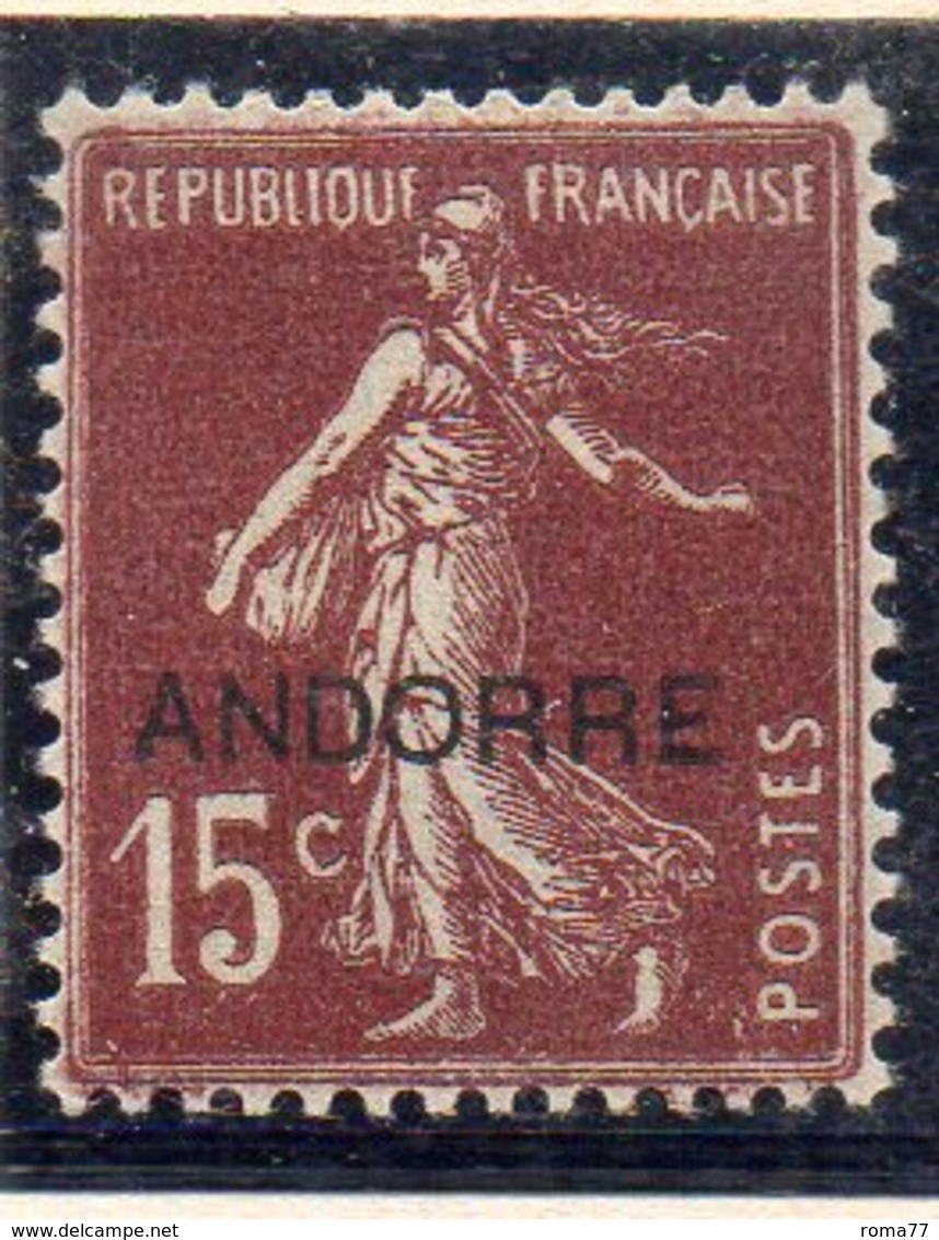 XP5013 - ANDORRA 1931,  Unificato N. 7  *  Linguella Forte (2380A) . - Neufs