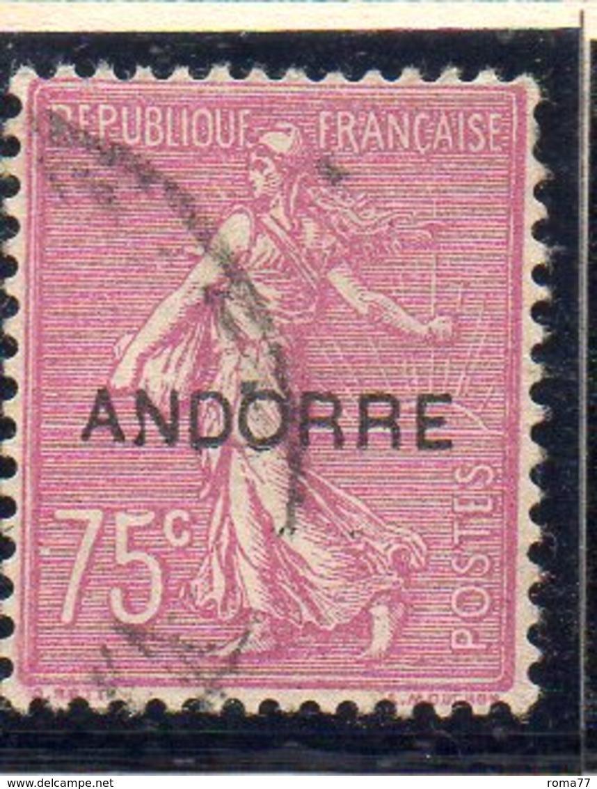 XP5027 - ANDORRA 1931,  Unificato N. 17  Usato (2380A) . - Andorre Français
