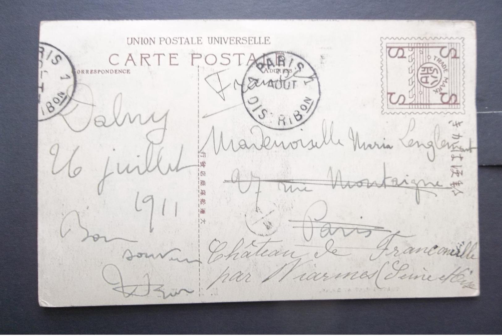 Japan: 1911 PPC To Paris (#DW11) - Giappone