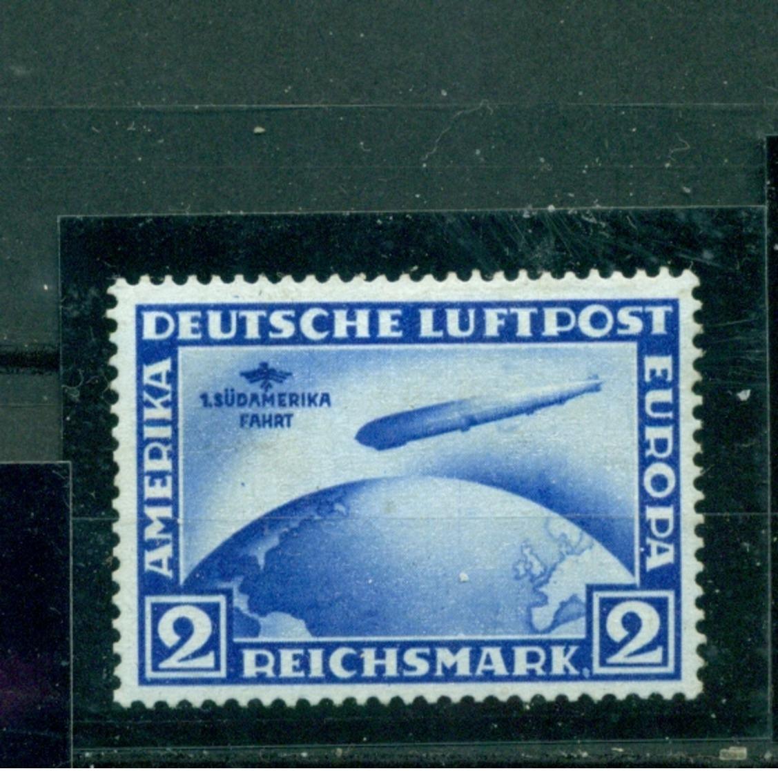 Deutsches Reich, Zeppelin über Weltkugel, Nr.438 Y II Falz * - Ungebraucht