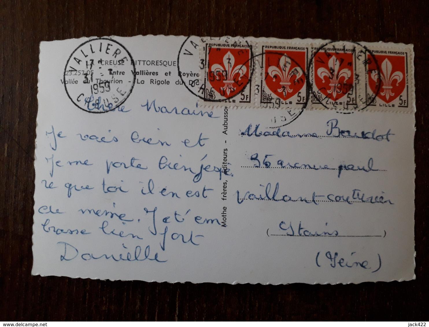 L22/999 Entre VALLIERES Et ROYERES . La Rigole Du Diable - France