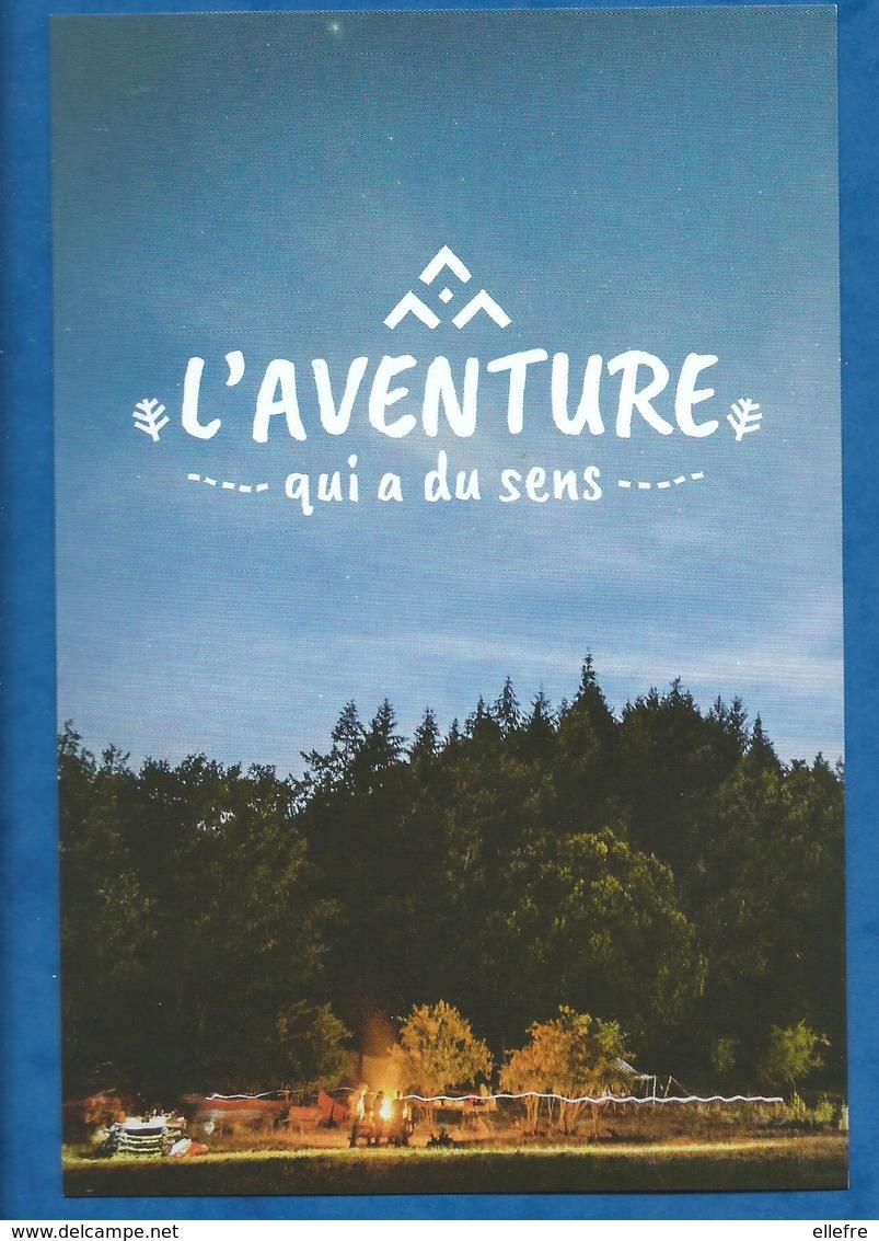 CPM Scoutisme Lot  : Scouts Guides De France L'aventure Qui A Du Sens ( 1 Serie De 4 Cartes Avec 1 Citation  Au Recto ) - Scoutismo