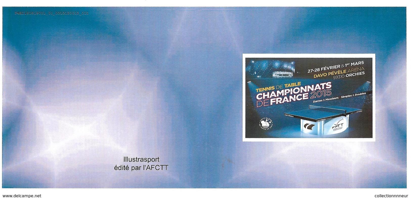 FRANCE CARNET COLLECTOR TENNIS DE TABLE 2015 NON PLIE TB VOIR SCANS - Collectors