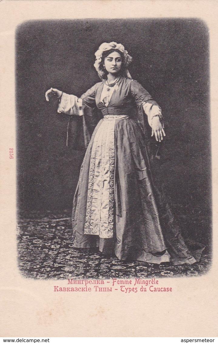 FEMME MINGRELE - TYPES DU CAUCASE. N°2156. IRAN PERSE POSTALE OBLITERE ISPAHAN CIRCA 1920's TBE -LILHU - Iran
