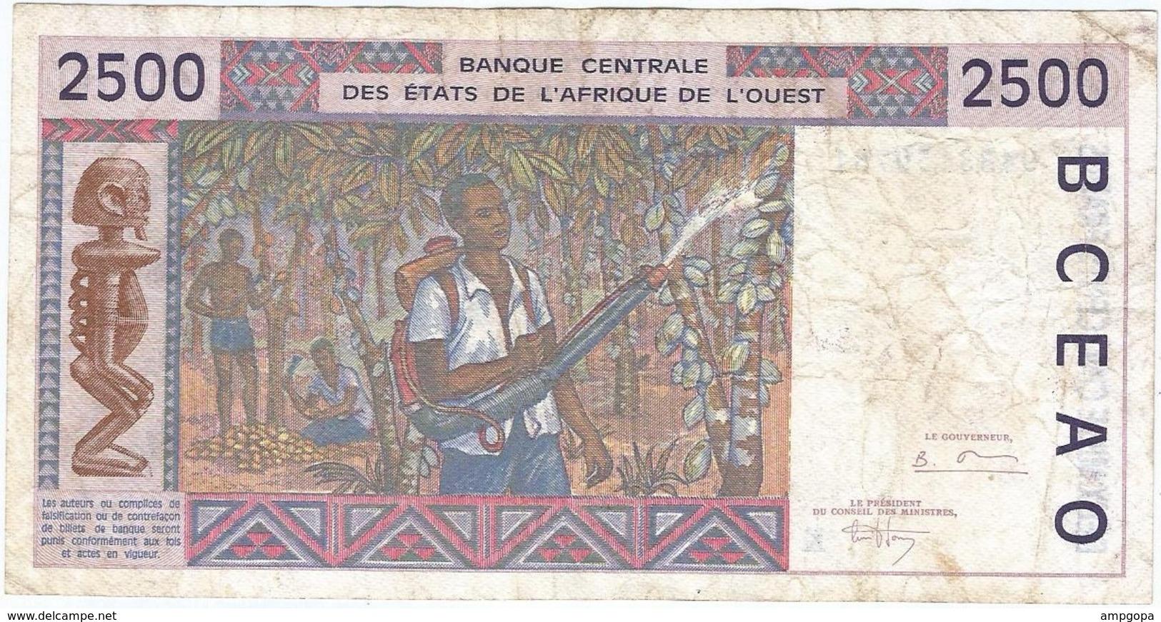 Estados Del África Del Oeste 2.500 Francs Senegal 1994 Pk 712 K.c Ref 3691-2 - West African States