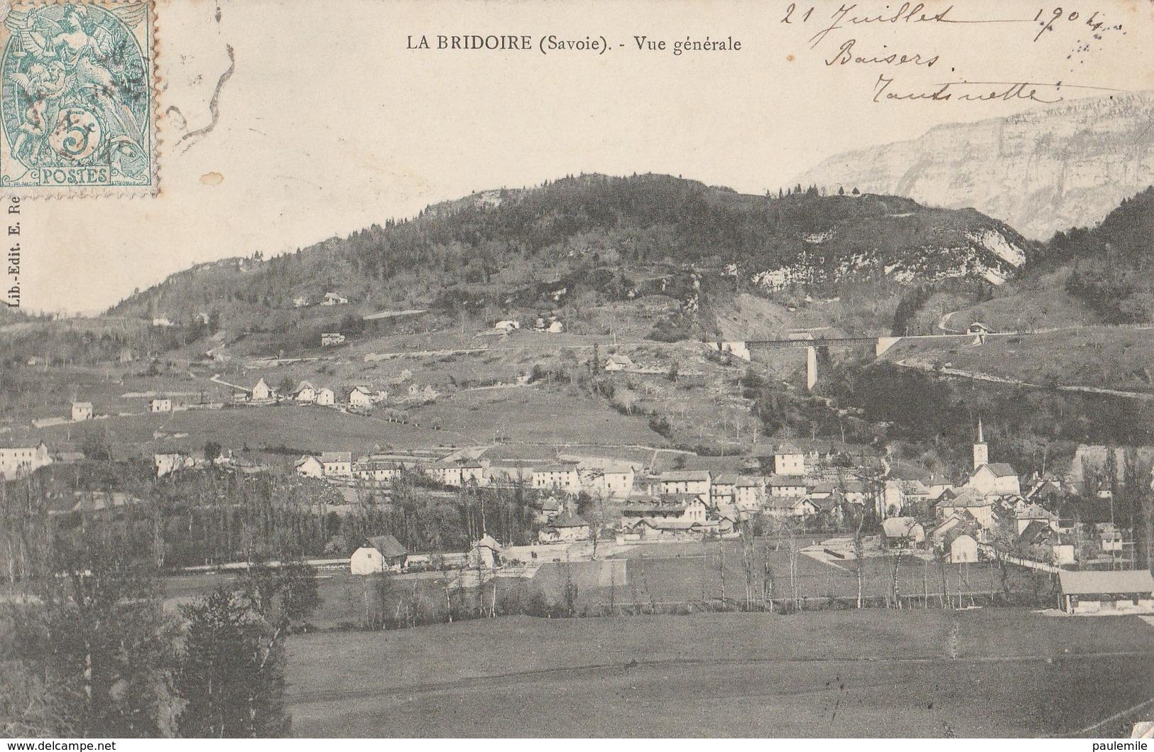 CPA   73  LA BRIDOIRE -    M 212  -VUE GENERALE ECRITE EN 1904 - Altri Comuni