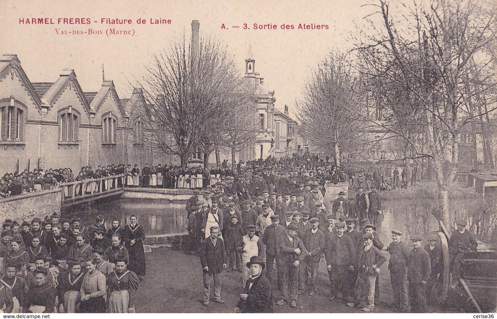 Val-des-Bois Harmel Frères Filature De Laine Sortie Des Ateliers - Frankreich
