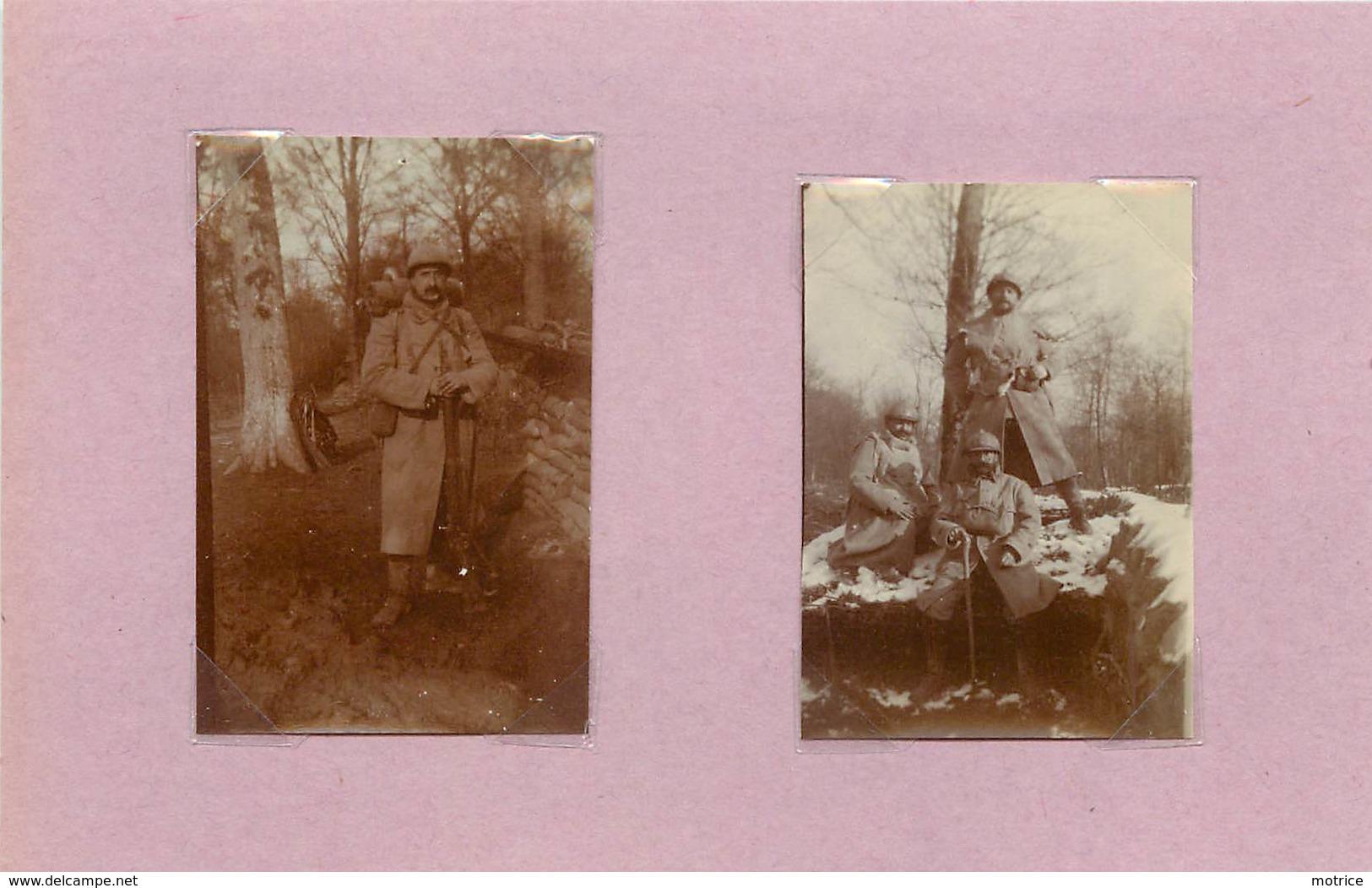GUERRE 1914/18 - Soldats Du 366em Régiment,  (photo  Format 6cm X 4 Cm Environ) - War, Military