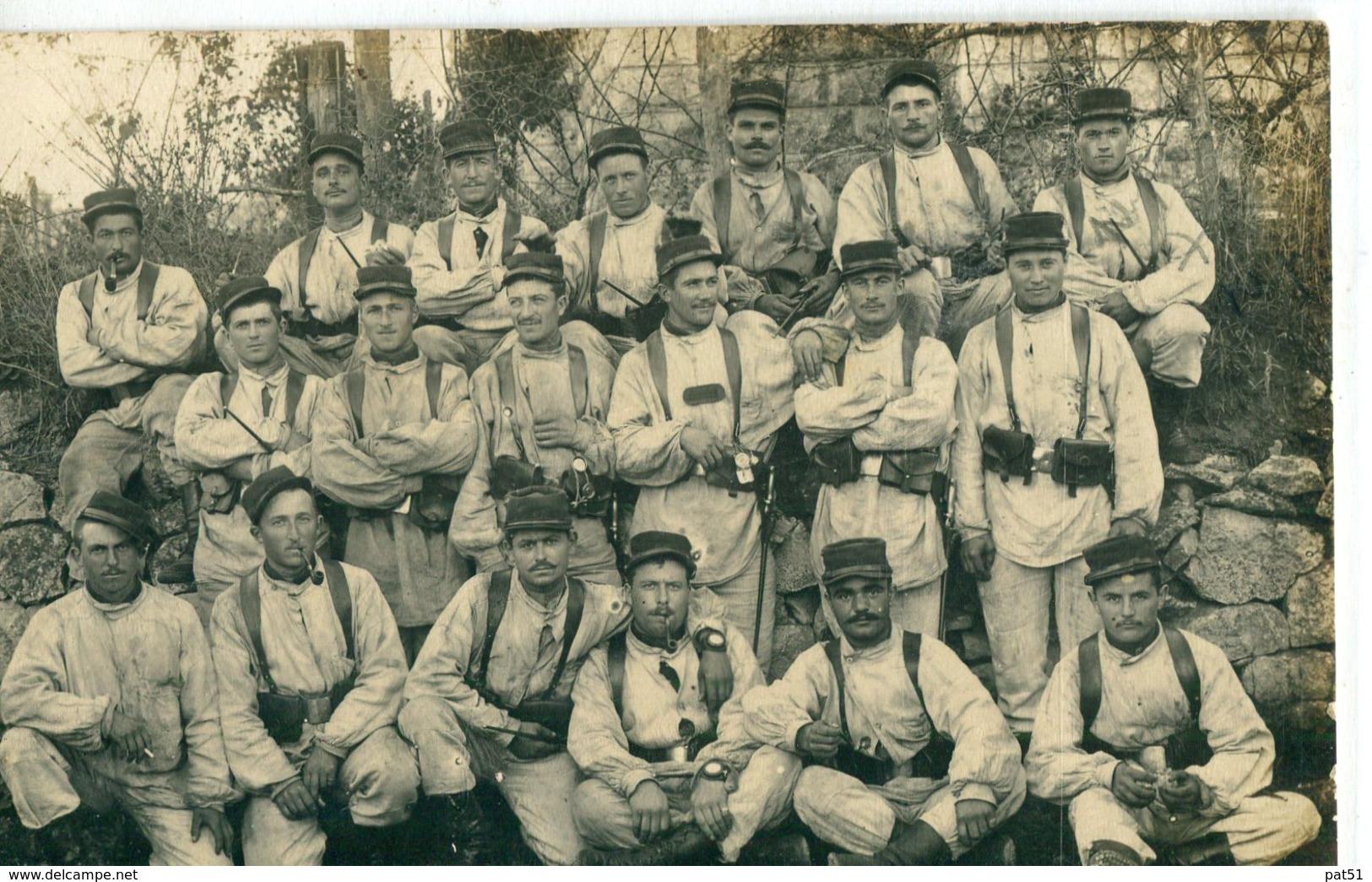 MILITARIA :  CP-Photo : Groupe De Soldats Du 68 ème Régiment D' Infanterie  - LE BLANC - Regimente