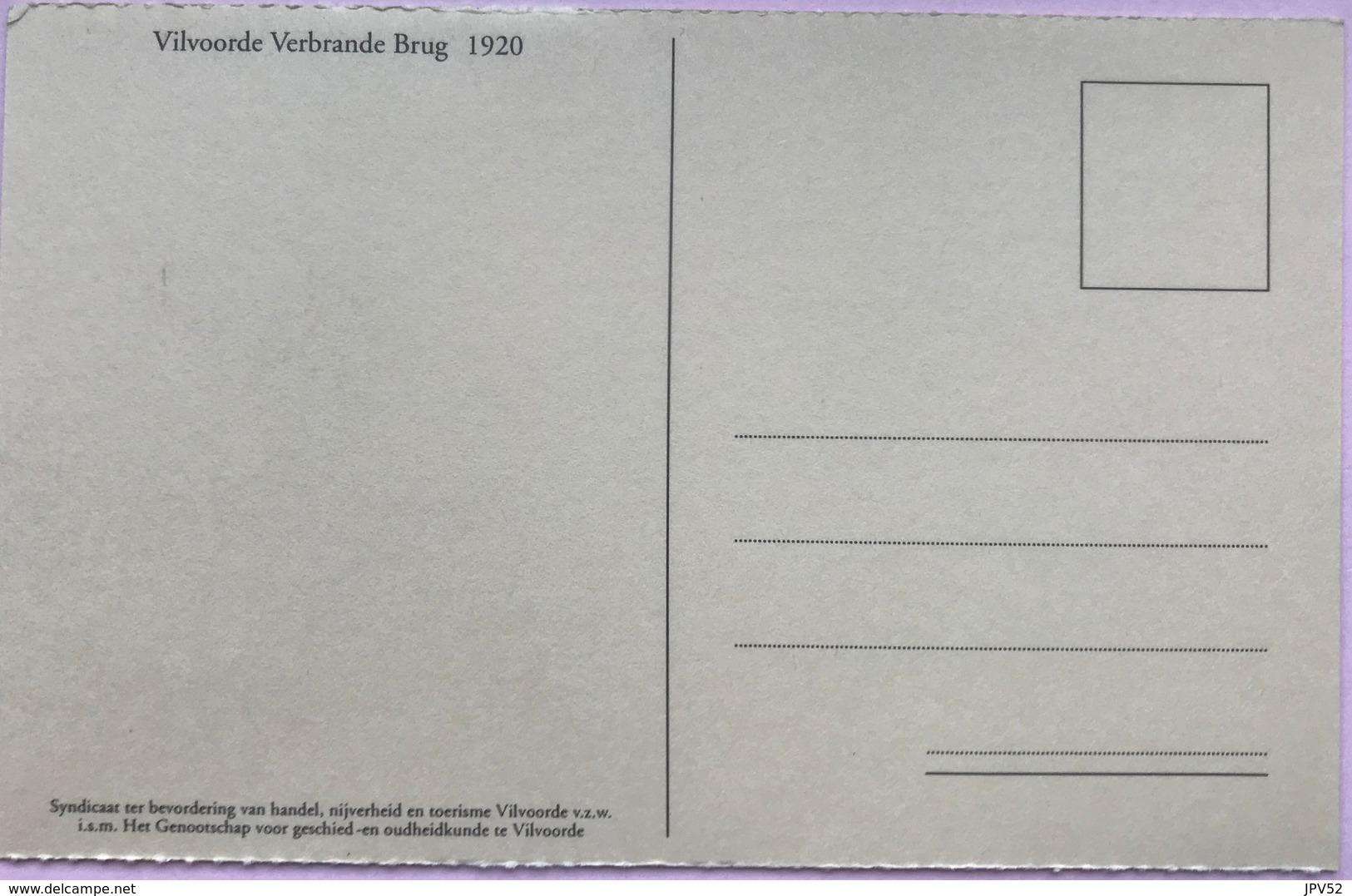 (2158)  Vilvoorde - Vilvorde - Verbrande Brug - Pont Brûle - Les Cokeries De Brabant -1920 - Vilvoorde