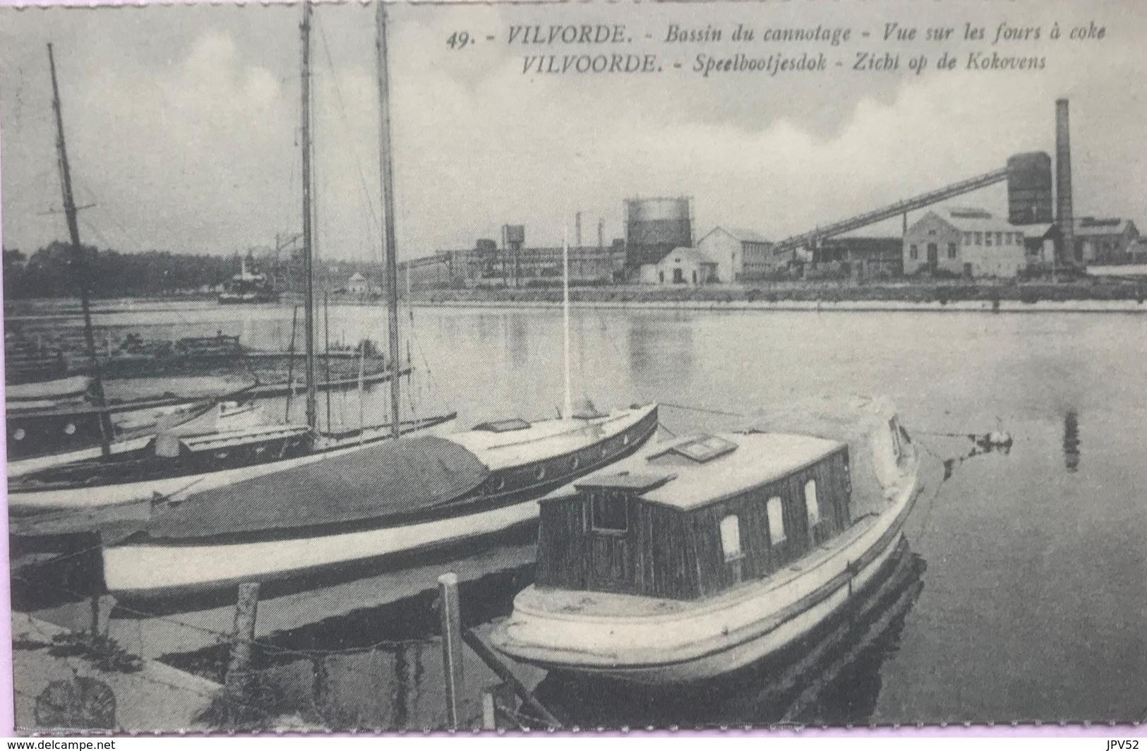 (2159) Vilvoorde - Vilvorde - Speelbootjesdok - Bassin De Cannotage - Zicht Op De Kokovens - 1920 - Vilvoorde